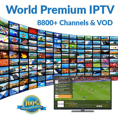 WORLD IPTV 3 MONTHS 6200+ Premium Ch & VOD -US, Europe, Asia- Smart TV, MAG, M3U