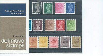 wbc. - GB - PRESENTATION PACK - 1977 - MACHIN - LOW VALUES to 50p - Pack No 90
