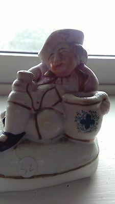 Antique inkwell -portly gentleman seated