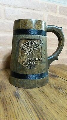 Game of Thrones Wooden beer mug 0.7Liters