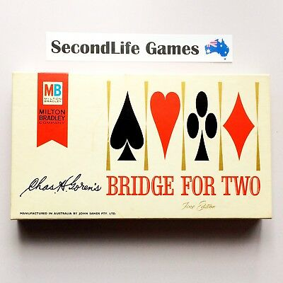 (Vintage). BRIDGE For Two - Fine Edition ~ Milton Bradley (1964). SecondLife.