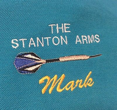 Personalised Embroidered Darts Polo Shirt