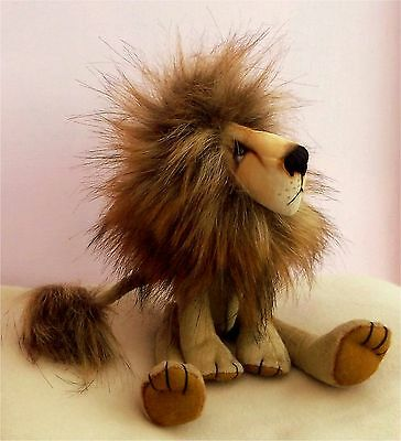 """Charlie soft toy 11""""  lion sewing craft pattern."""