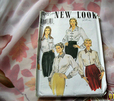 Sewing patterns New Look Size 8-18 UNCUT women's blouse set #6452