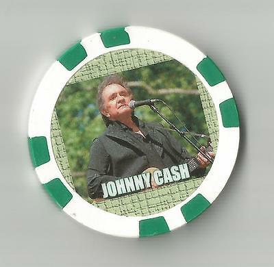 """Johnny Cash  Singer"""" Collector Chip The Man In Black"""