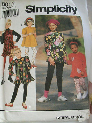 Simplicity girls dress and pants sewing pattern -Uncut patterns - 1990s patterns