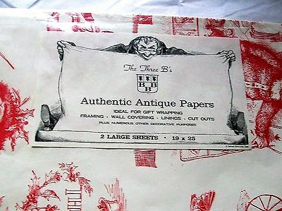 Vintage wrapping paper The Three B's Authentic Antique Papers Gift FREE SHIPPING