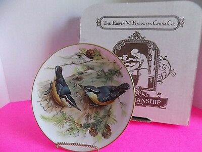 Vintage Bradford Exchange Collector Plate Knowles China Complany 1986 Woodpecker