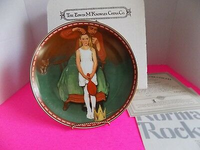 Vtg Bradford Exchange Collector Plate Knowles Second Thoughts Norman Rockwell