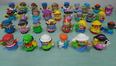 33 Fisher Price Little People Zoo School Children w Pets Dress Up Race Car Lot