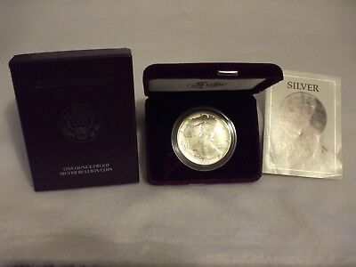 1992-S Proof American Silver Eagle Coin  - One Troy oz .999 Bullion