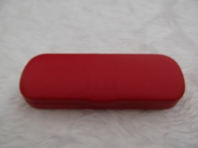 Used - Elle red glasses / sunglasses case - proceeds to charity