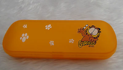 NEW - Garfield orange plastic glasses case - childrens - proceeds to charity