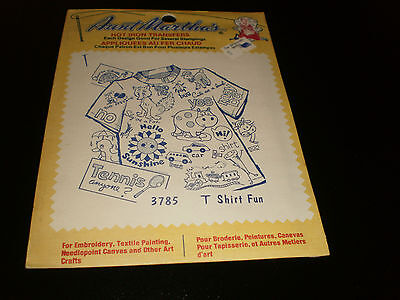 Aunt Martha's Hot Iron Transfers  -T Shirt Fun   - Sealed - #3785