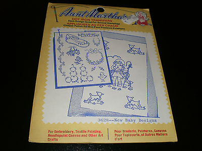 Aunt Martha's Hot Iron Transfers  - New Baby Designs  - Sealed