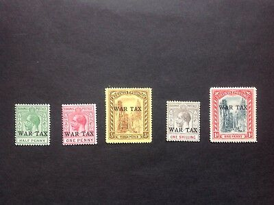 BAHAMAS 1918 WAR TAX Nassau overprints