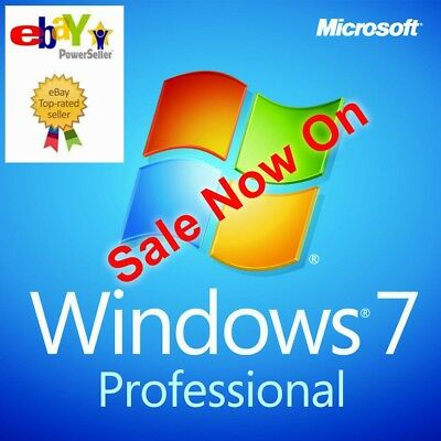 Microsoft Windows 7 Professional Key and Download - Full Pro Version No 1 SELLER