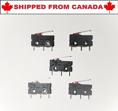 5pcs KW11-3Z 5A 250V Lever Arm Normally Open Close Limit Switch - From Canada