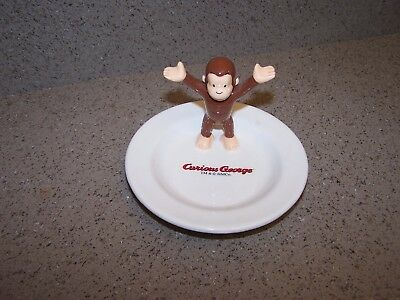 CURIOUS GEORGE plate w/Curious George Standing by KIDDYLAND CO