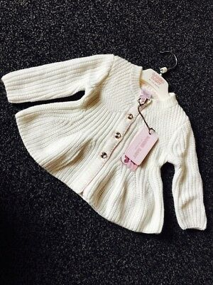 Stunning Girls Ted Baker Cardigan. Age 3-6 Months. Bnwt. Diamanté Buttons.