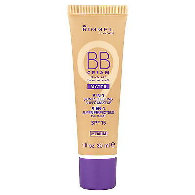 Rimmel BB Cream 9 in 1 Skin Perfecting Make Up 30ml Sealed --Choose shade---