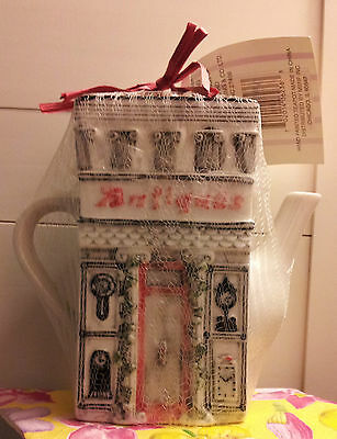 MSRF INC. DOUBLE-SIDED TEAPOT: ANTIQUES STORE with EARL GREY TEABAGS (NEW)!!!