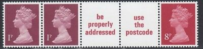 (05649) GB MNH 10p Coil x845m 8p 1p Definitives Use Postcode unmounted mint