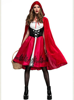 New Woman Cosplay Little Red Riding Hood Costumes Halloween party dress up