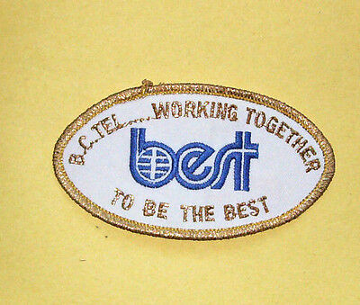 Telephone Company Patch - B.C. Tel - Working Together to be the Best