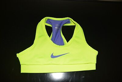 Nike Girls Pro Swoosh Small Compression Sports Bra Volt Purple EUC SMALL