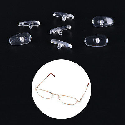 50 Pairs Screw-On Oval Silicone Nose Pads for Glasses Eyeglass New BS&U
