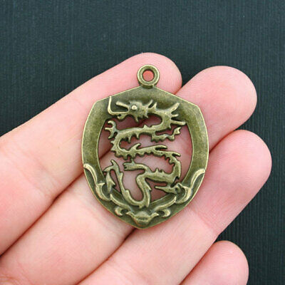 20 or 50PCs Dragon 21mm Wholesale Antiqued Bronze 3D Charm Pendants C4845-10