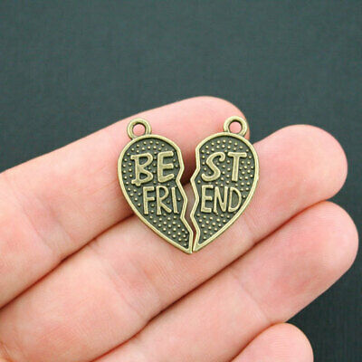 SC2001 4 Special Friend Charms Antique Silver Tone 2 Sided