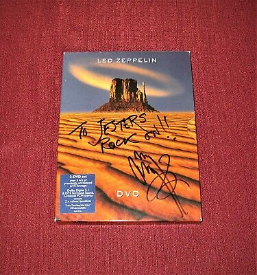 "JIMMY PAGE (Signed) ""LED ZEPPELIN"" 2-DVD Set - Donated to Charity"