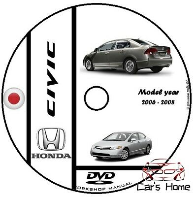 Manuale Officina Honda Civic My 2006 - 2008 Workshop Manual Service Cd Dvd