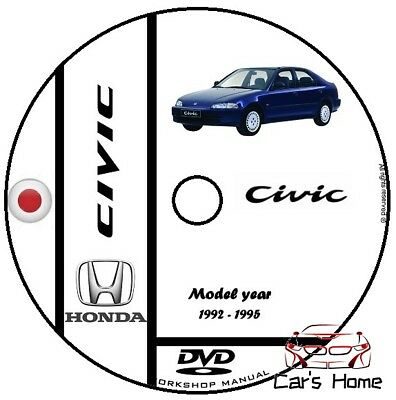 Manuale Officina Honda Civic My 1992 - 1995 Workshop Manual Service Cd Dvd