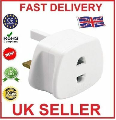 EU Euro Europe European to UK & UK to EU England English Travel Adaptor Plug