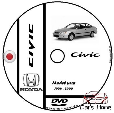 Manuale Officina Honda Civic My 1996 - 2000 Workshop Manual Service Cd Dvd