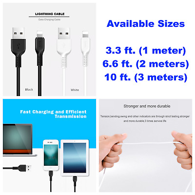 Lightning USB Cable Charger For Original Genuine OEM Apple iPhone 7 6 6S Plus 5C