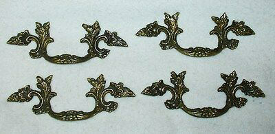 Antique lot of 4 furniture part handles Drawer bronze in good conditions