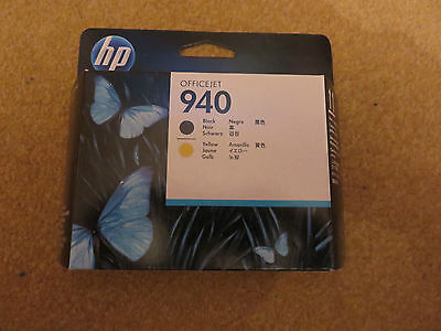 Unopened HP Officejet 940 Black and Yellow Print Heads (C4900A)