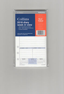 2018 Collins Personal size refill PR2700 -Week to View -fits most  See below