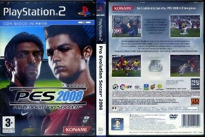 Pes 2008 Pro Evolution Soccer Ps2 Playstation 2 Originale Pal In Italiano