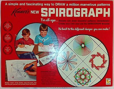 *COMPLETE* Kenner's No.401 SPIROGRAPH toy kit set art Manual Pins & Pens vintage