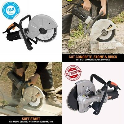 Electric Disc Cutter Brick Blocks Construction Concrete Cut-Off Saws Orange Tool