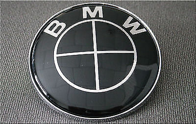 45Mm Full Black Steering Wheel Badge Suitable For Bmw