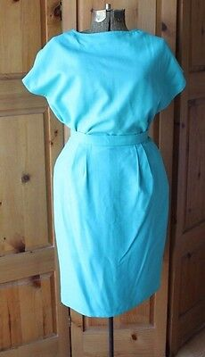Vintage Handmade Green Turquoise Seafoam Boxy Blouse Top & Matching Skirt Set