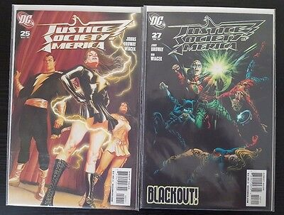 Justice Society of America #25 & 27 (May & July 2009, DC) VF/NM