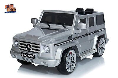 Mercedes Benz® G55 AMG Electric Ride On Toy Car - Silver (OFFICIALLY LICENSED)