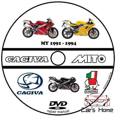 Manuale Officina Cagiva Mito My 1991 - 1994 Workshop Manual Service Cd Dvd
